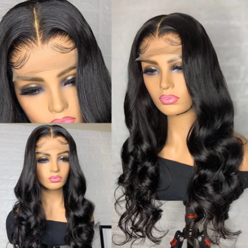 LM new arrival body wave 13x6 transparent lace frontal wig for new year