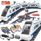 941pcs City Electric Harmony High-speed Rail Remote Control Building Blocks