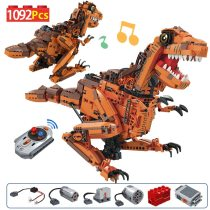 1092PCS City Creative Electric Tyrannosaurus Building Blocks