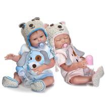 Realistic 20''Reborn Twin Baby Doll Girl Luna & Liam