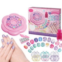 【NO GLUE! USING WATER ONLY】Children Pretend Nail Makeup Toy