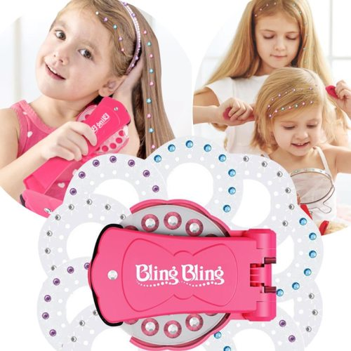 Fashion Gems Bling Bling Deluxe Set Pretend Play DIY Girls Hair Styling Tool
