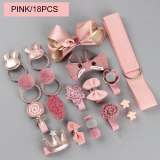 18pcs/set Girls Headwear Set Toys, Children Beauty Accessories