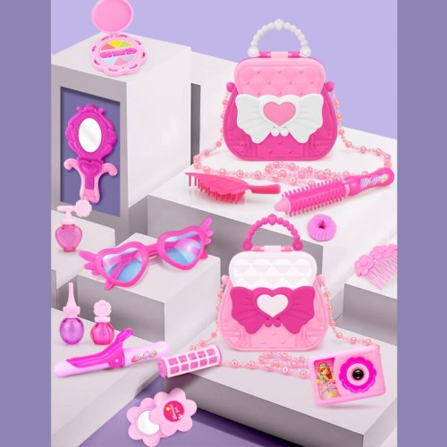【My Purse】Pink Princess Beauty Bag Girl Makeup Pretend Play Toy