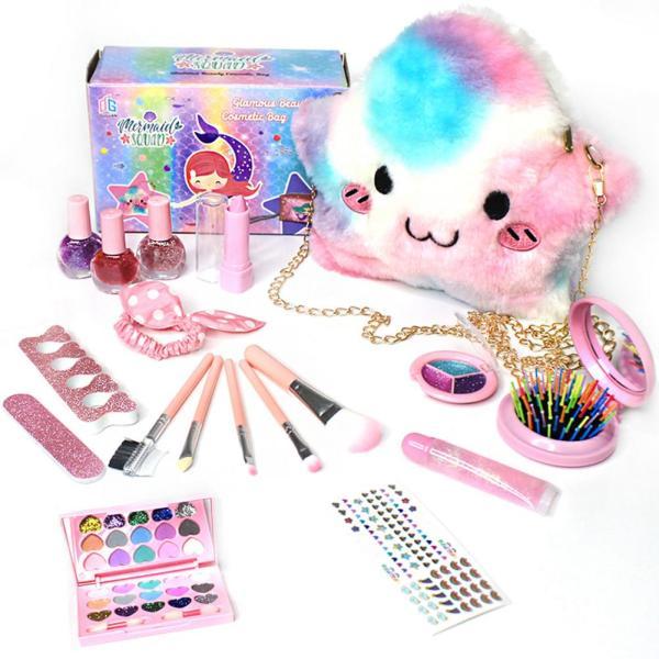 My First Bag, Furry Twinkle Girl Pretend Play Makeup Handbag
