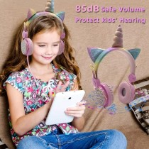 Surprise Cute Unicorn Wired Headphone For Kids