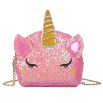 Glitter Unicorn Cute Shoulder Bag Cute Colorful Girls Mini Messenger Bag