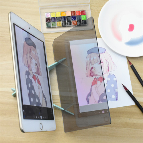Kids LED Projection Optical Drawing Board Projector Painting Tracing Board Sketch Specular Reflection Dimming Bracket Holder