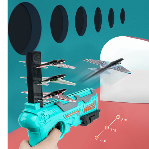 Catapult Plane Foam Air Battle One-Click Ejection Model Launchers Toy Glider Model Outdoor Toy for Kid and Adult DTT88
