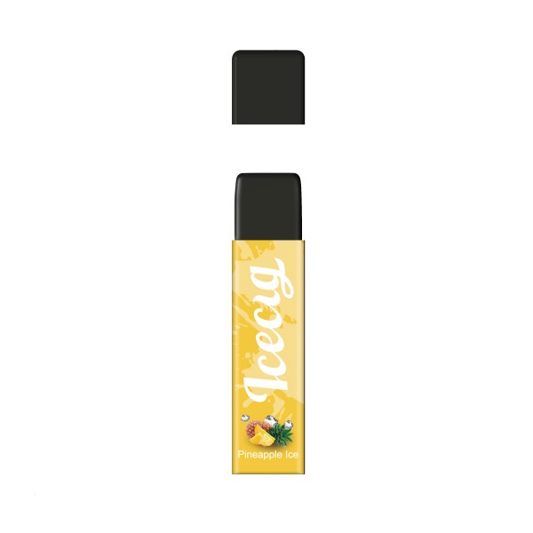 Pineapple Ice flavor Icecig D09 disposbale pod device dustproof cover