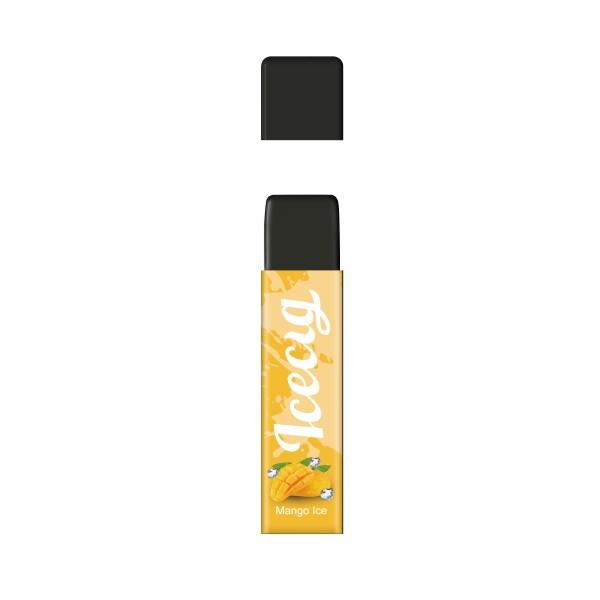 Mango Ice flavor Icecig D09 disposbale pod device dustproof cover