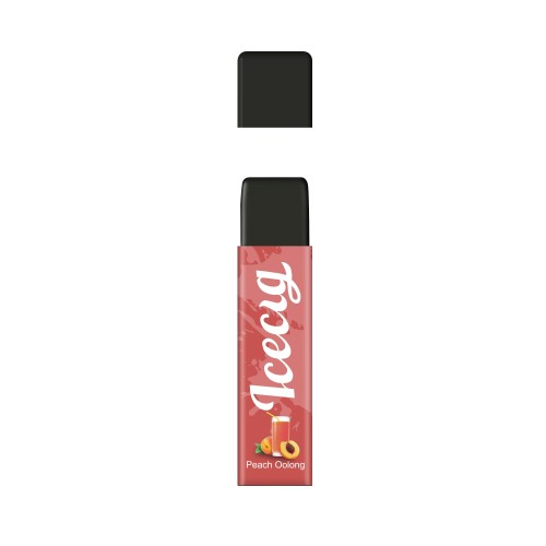 Peach Oolong flavor Icecig D09 disposbale pod device dustproof cover