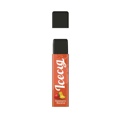 Stawberry Banana flavor Icecig D09 disposbale pod device dustproof cover
