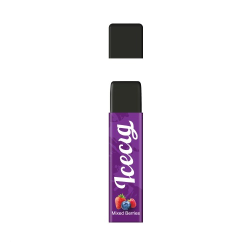 Mixed Berries flavor Icecig D09 disposbale pod device dustproof cover