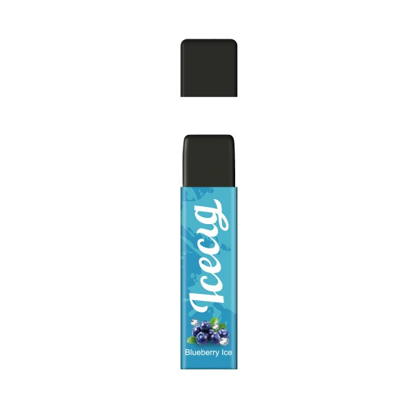 Blueberry Ice flavor Icecig D09 disposbale pod device dustproof cover