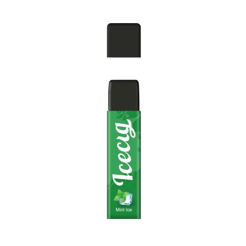 Mint ice flavor Icecig D09 disposbale pod device dustproof cover