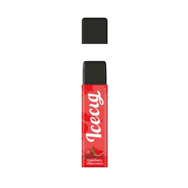 Strawberry Watermelon flavor Icecig D09 disposbale pod device dustproof cover