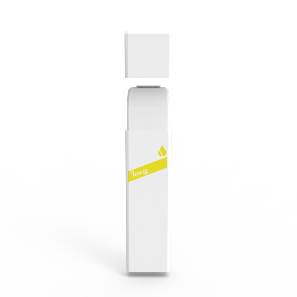 Icecig D09 paint color edition singles 400fuffs Light yellow logo