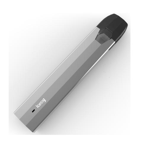 Icecig K11 Disposable Vape With Metal Free Pod Part CBD Unique square ceramic coil Gray