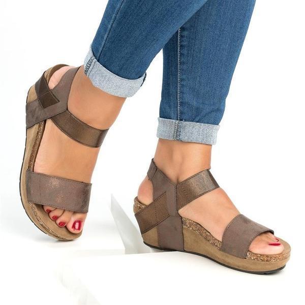 Med Wedge Comfortable Platform Women Sandals
