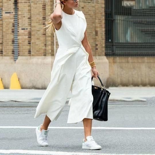 Casual Sleeveless Solid Jumpsuit