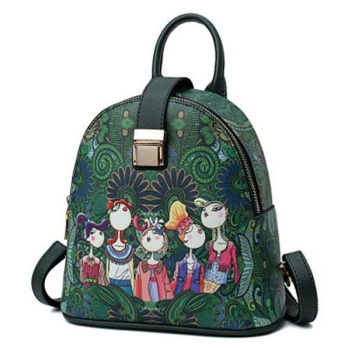 Bohemian Series Casual Multi-functional Backpack Crossbody Bag