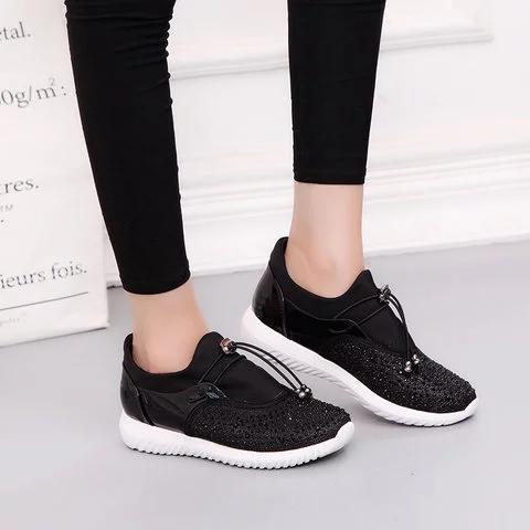 Rhinestone Slip On Sneakers