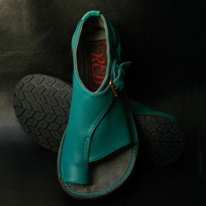 Buckle Strap Flat Heel Sandals