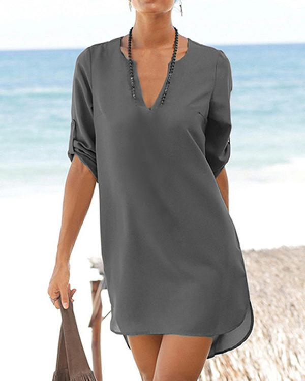Short Tunic Shirts Summer Mini Dress