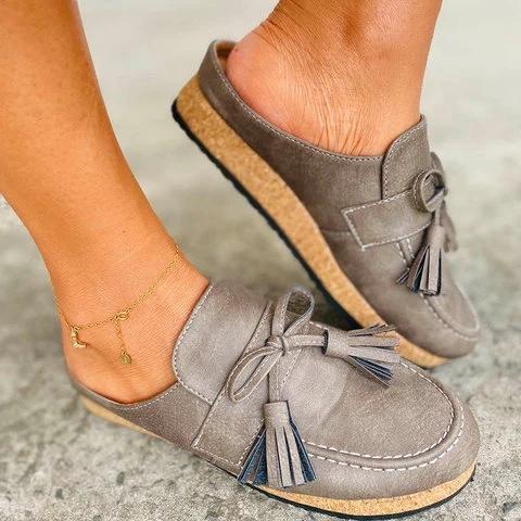 Women Tassel Comfy Summer Loafers