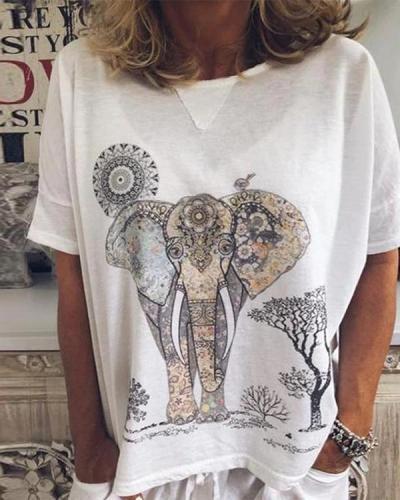 Women Casual Loose Tops Tunic T Shirt Tops