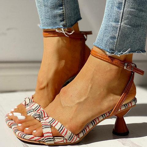 Women Summer Elegant Open Toe Heel Sandals