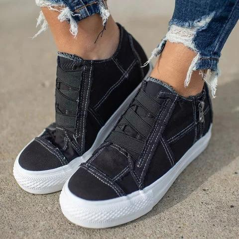 Low Heel All Season Sneakers