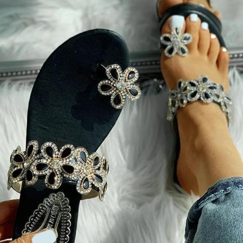 Women Casual Summer Toe Ring Flat Sandals