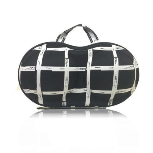 Travel Bra Bag Geometric Pattern Bra Storage Bag