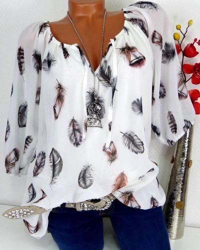 Women Vintage Long Sleeve Off Shoulder Casual Plus Size Blouse Tops