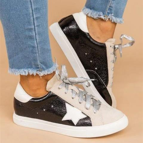 All Season Flat Heel Lace Sneakers