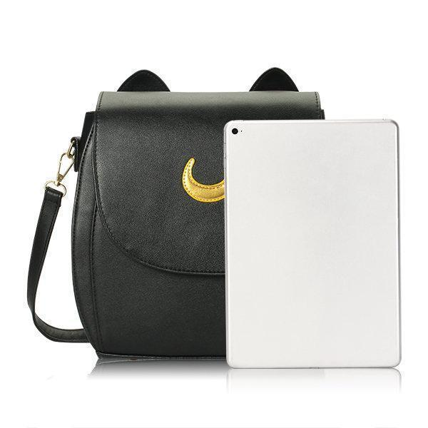 Moon Print Casual Crossbody Bag