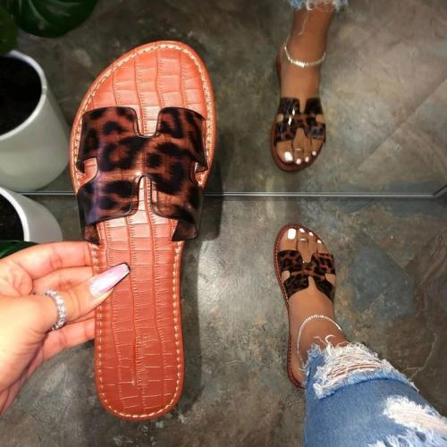 Flat With Alligator Pattern Slip-On Flip Flop Summer Casual Slippers