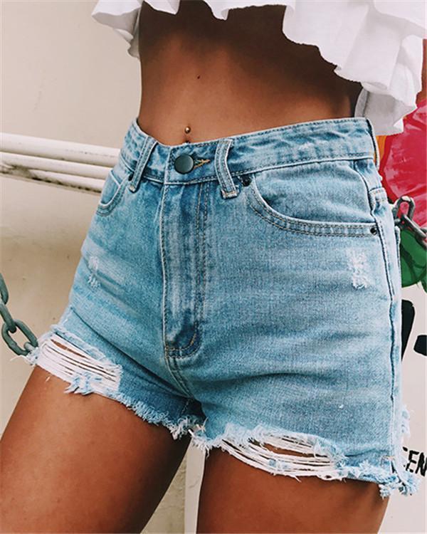 Women's Classic Split Side Denim Shorts