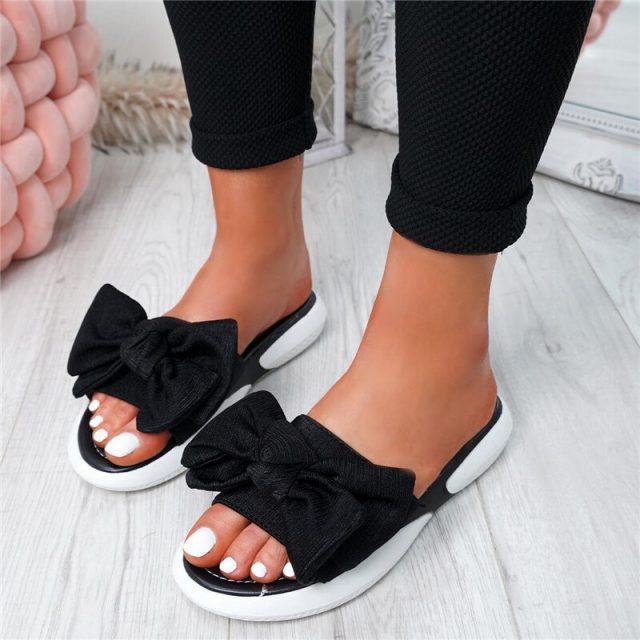 New Fashion Slip On Peep Toe Casual Sandals