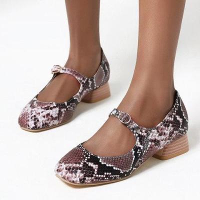 Summer Buckle snakeskin Sandals