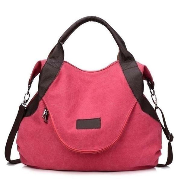 Large Pocket Casual Canvas Handbag Shoulder Crossbody Bag