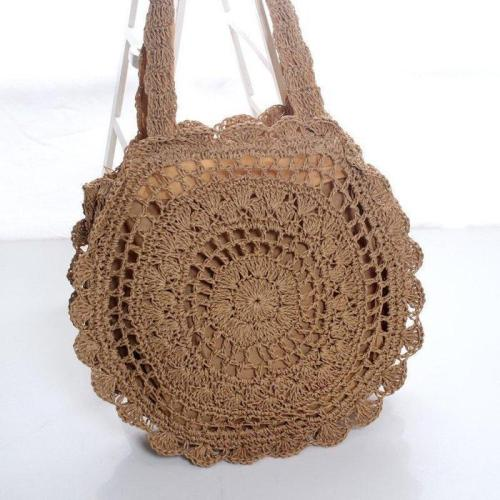 Women's Casual Woven  Beach Summer Straw Shoulder Bags