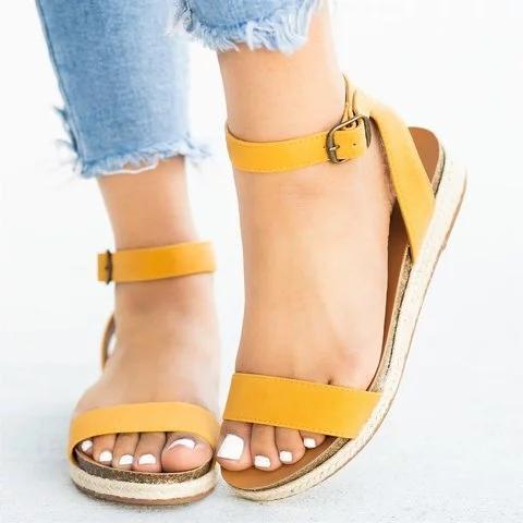 Women's Solid Color Open Toe Sandals