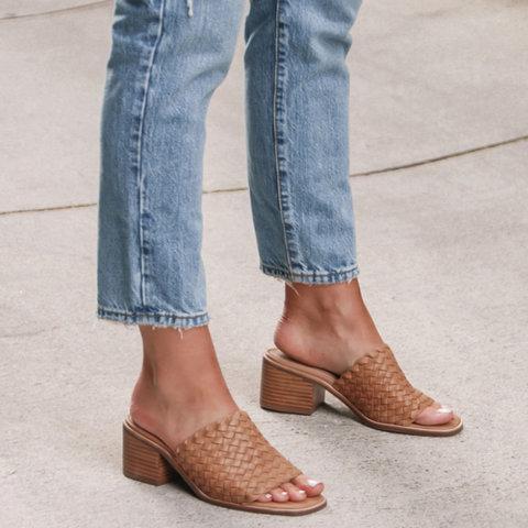 Women Summer Chunky Open Toe Sandals