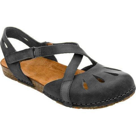 Cross design Magic Tape Sandals