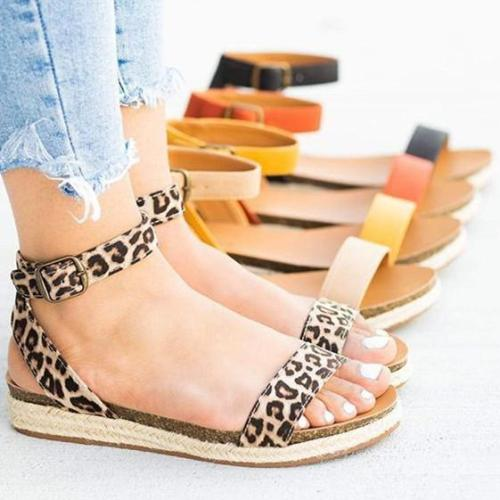 Women's Solid Color Open Toe Sandals