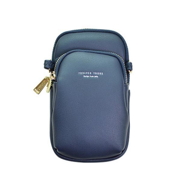 Women Casual Crossbody Bag Solid Phone Bag