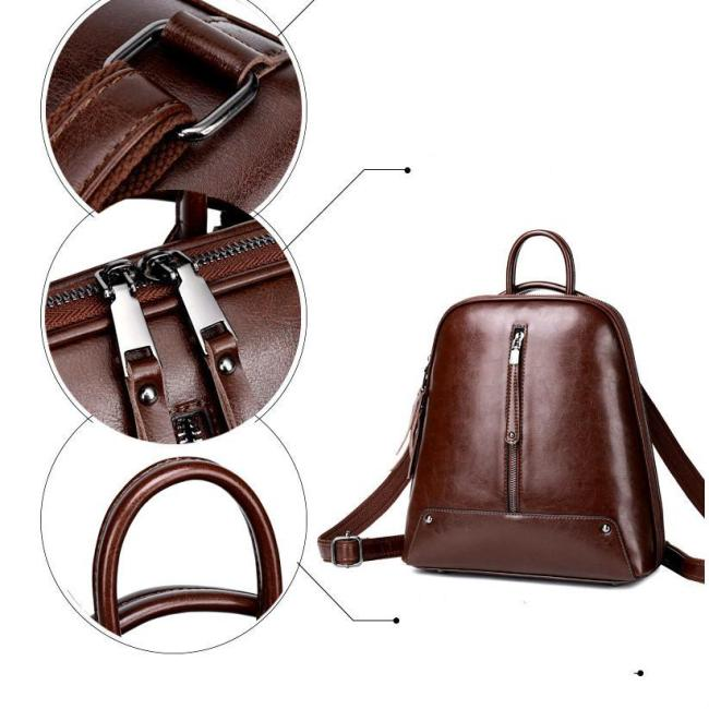 Lokeeda Bag: 2020 New And Personal Woman Leather Backpack
